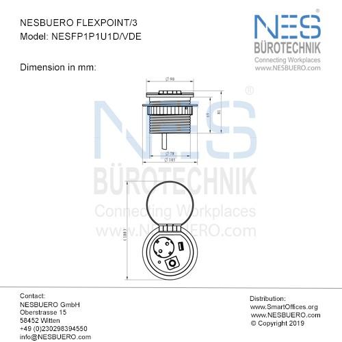 NESBUERO FLEXPOINT/3 - NESFP1P1U1D/VDE