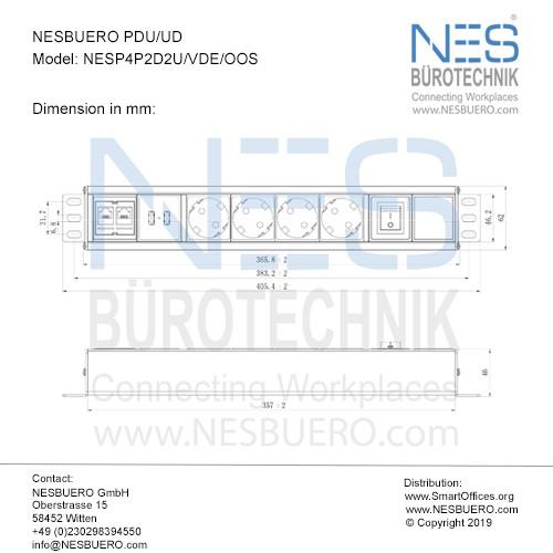NESBUERO PDU/UD - NESP4P2D2U/VDE/OOS