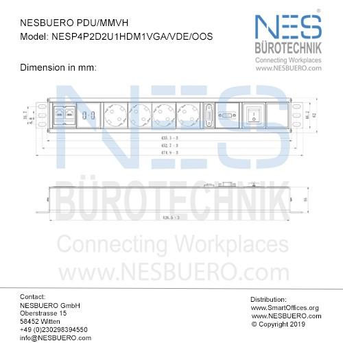 NESBUERO PDU/MMVH - NESP4P2D2U1HDM1VGA/VDE/OOS