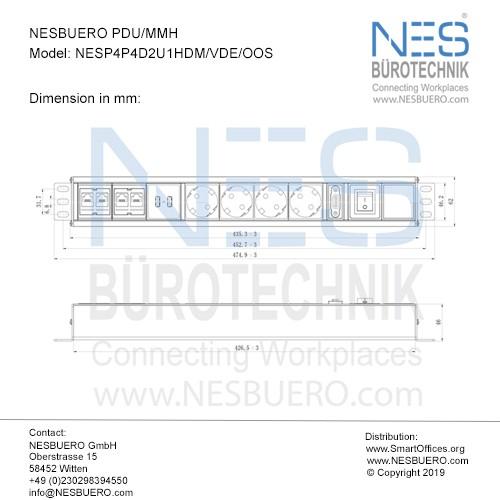 NESBUERO PDU/MMH - NESP4P4D2U1HDM/VDE/OOS